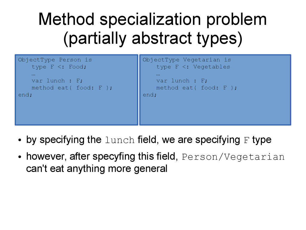 Method specialization problem (partially abstra...