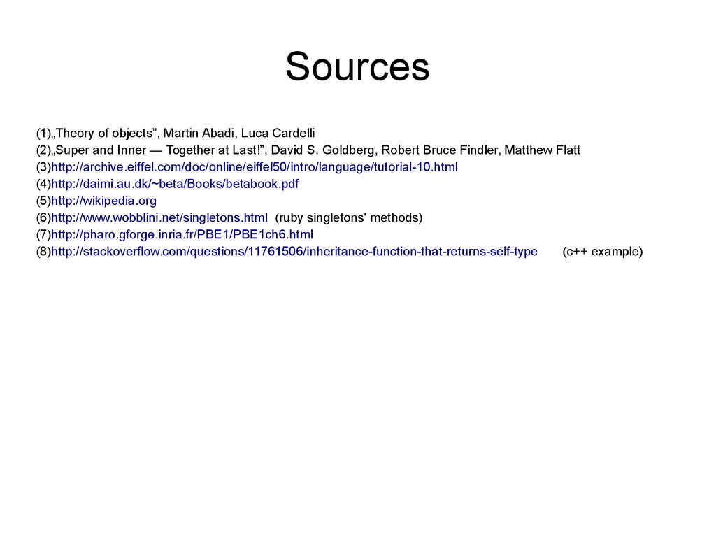 """Sources (1)""""Theory of objects"""", Martin Abadi, L..."""