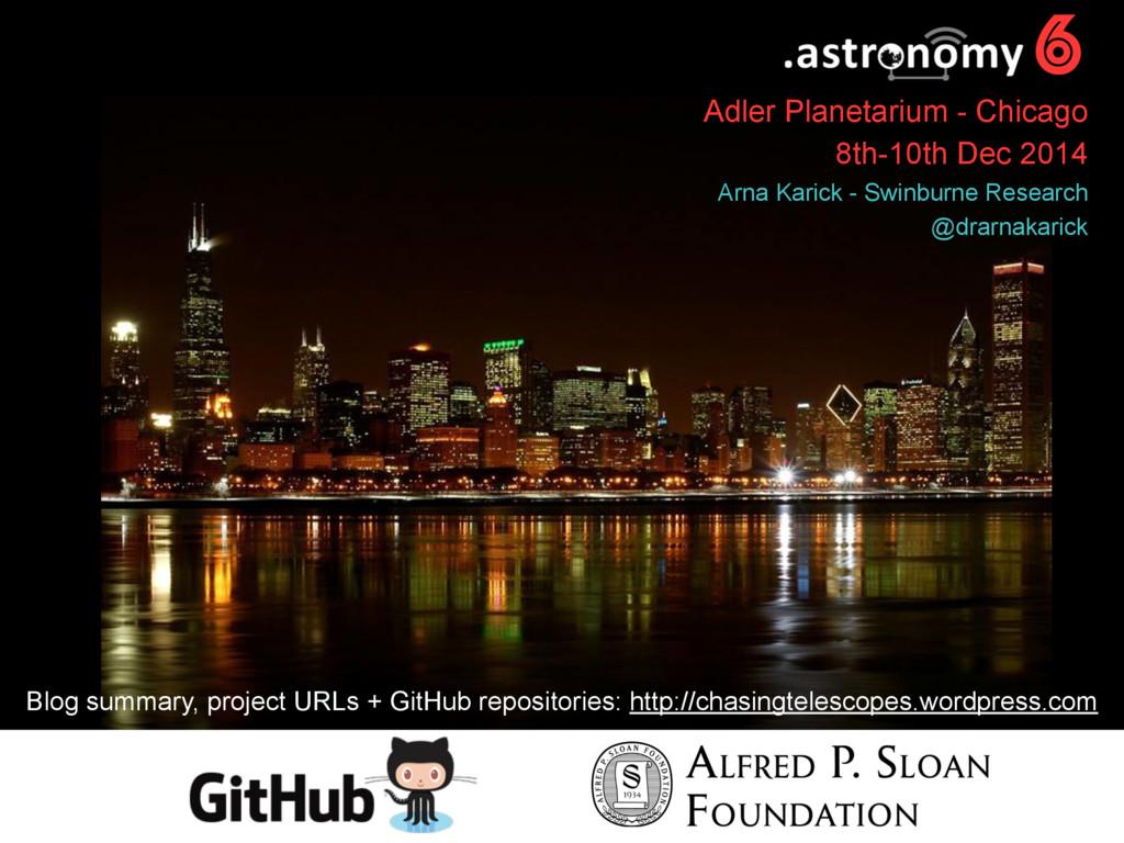 6 Adler Planetarium - Chicago 8th-10th Dec 2014...