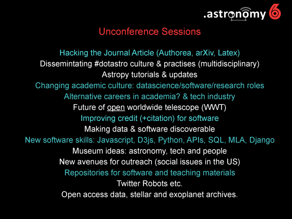 6 Unconference Sessions Hacking the Journal Art...