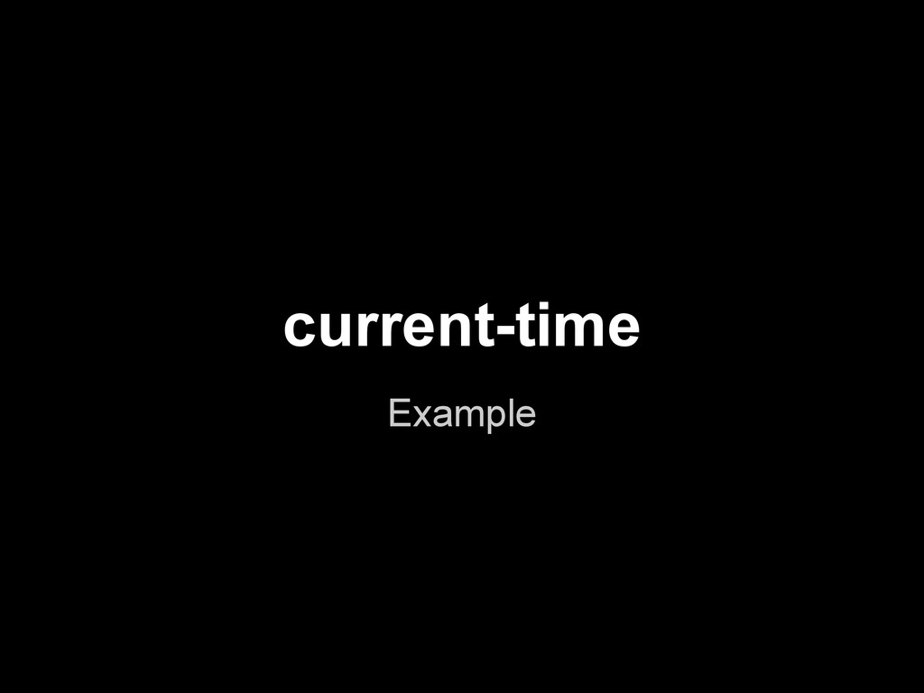 current-time Example