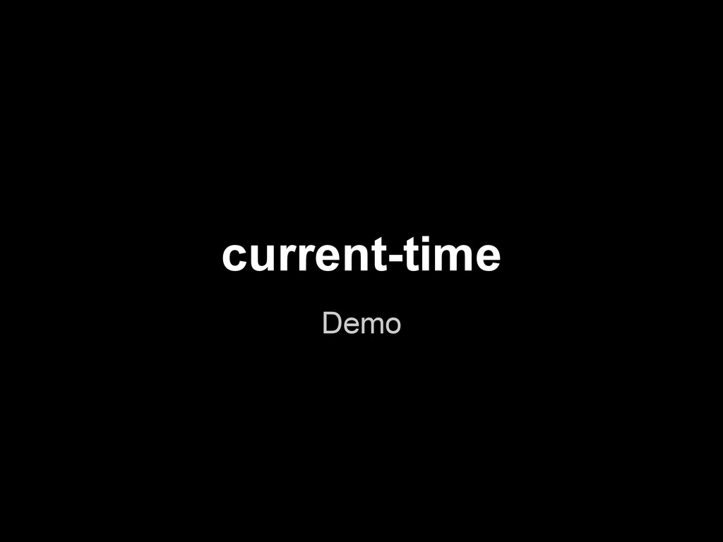 current-time Demo