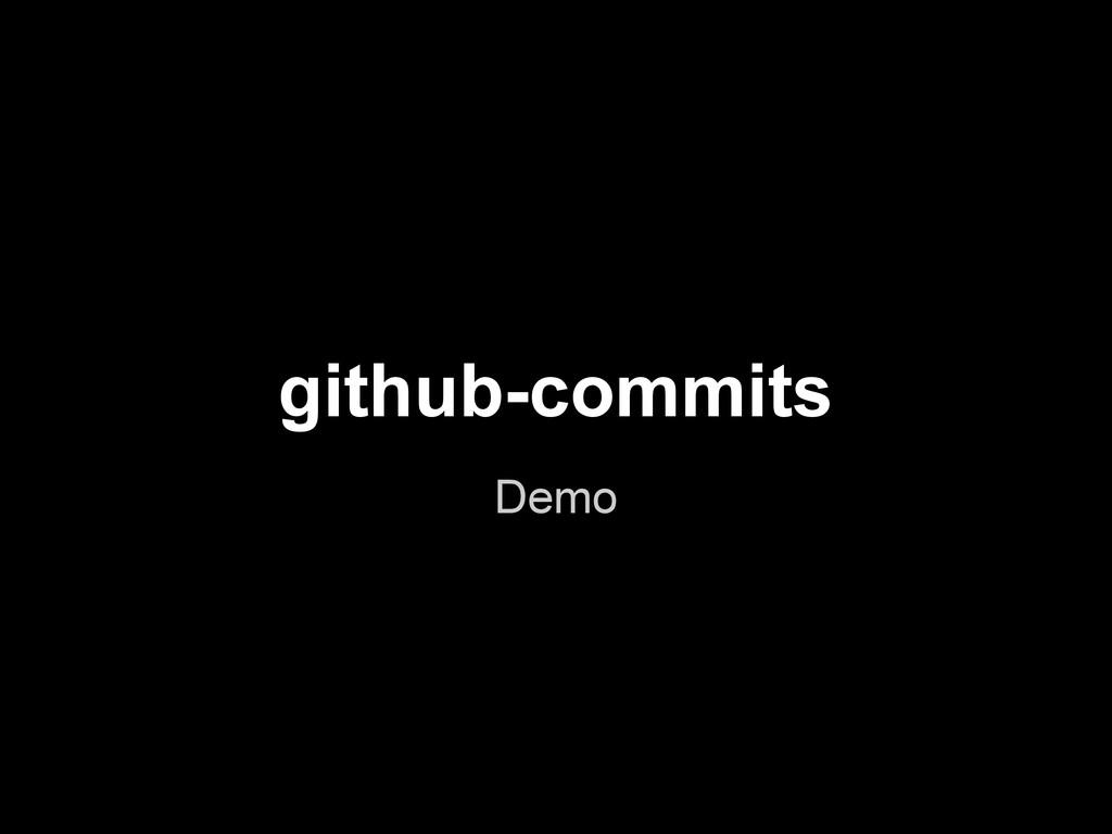 github-commits Demo