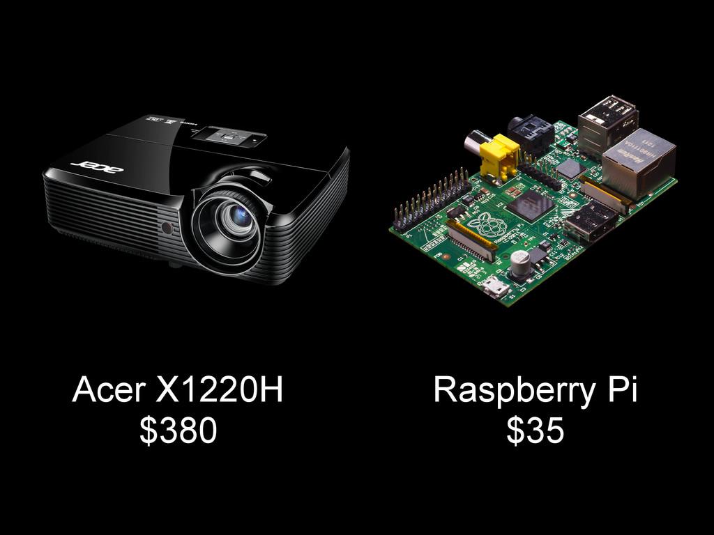 Acer X1220H $380 Raspberry Pi $35