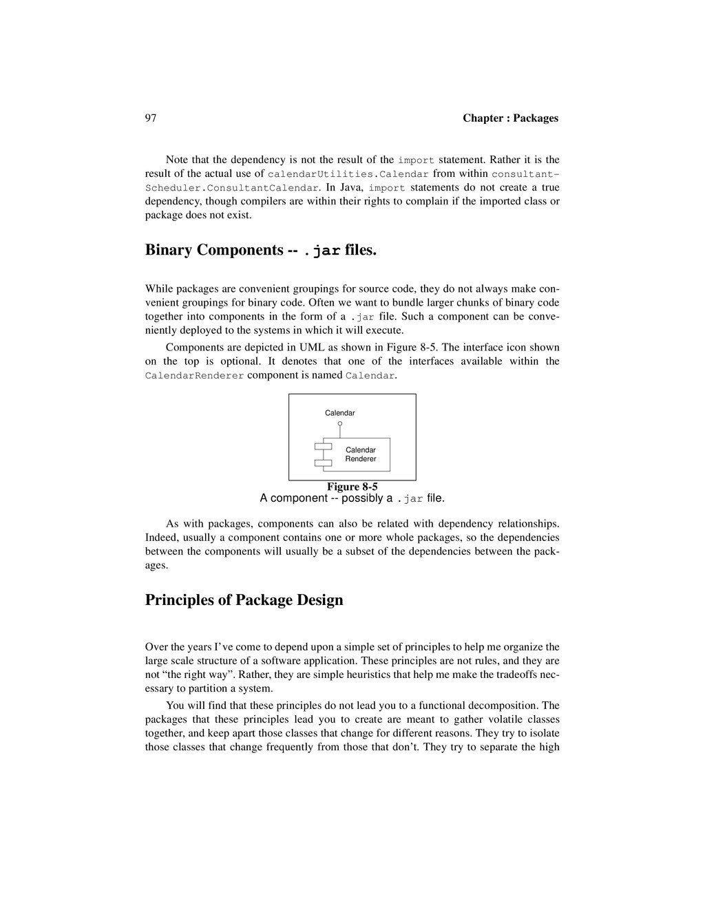 97 Chapter : Packages Note that the dependency ...