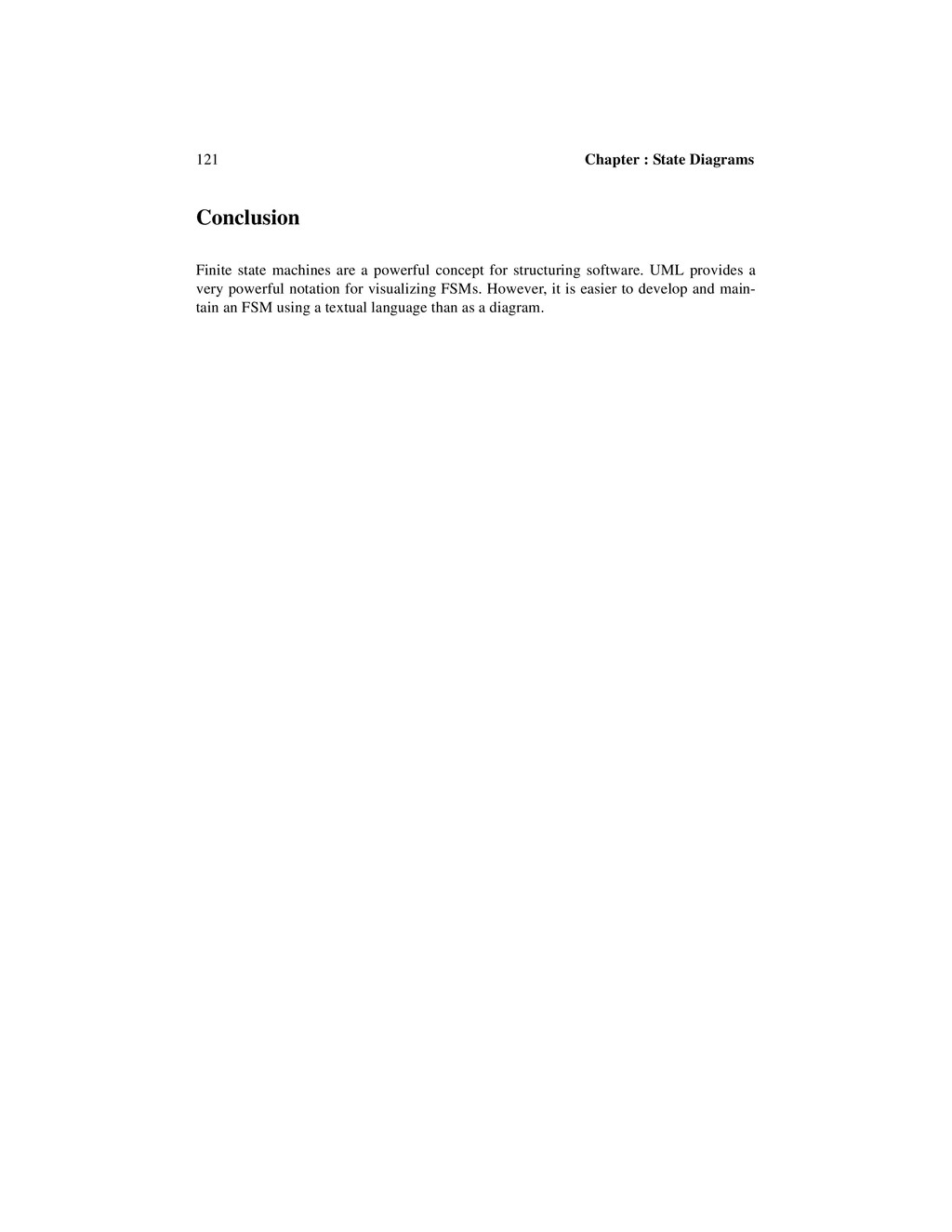121 Chapter : State Diagrams Conclusion Finite ...