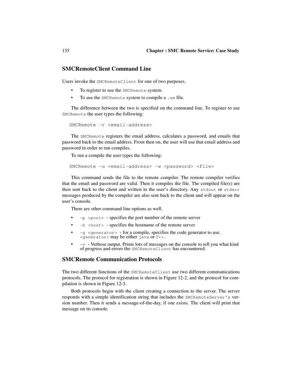 155 Chapter : SMC Remote Service: Case Study SM...