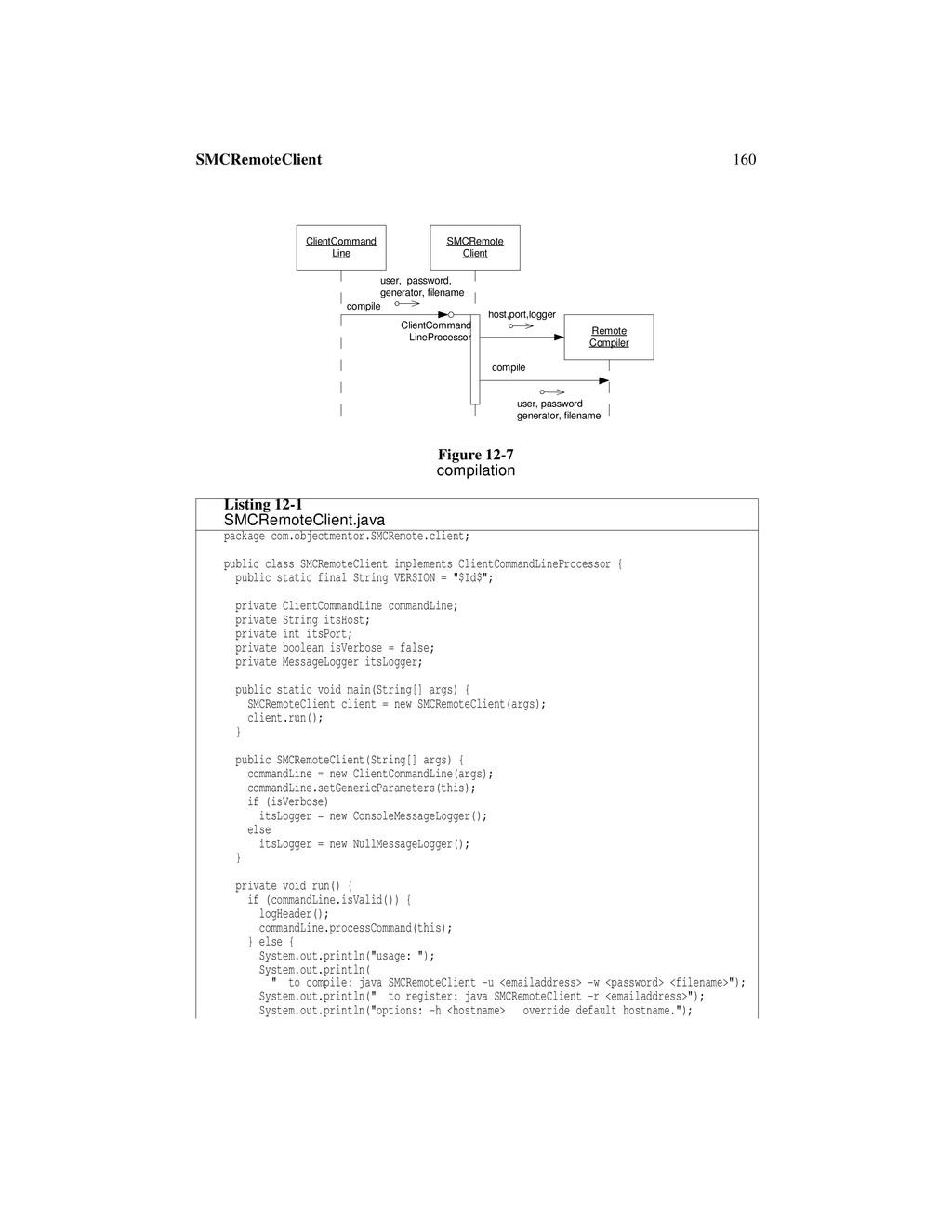 160 SMCRemoteClient Figure 12-7 compilation Lis...