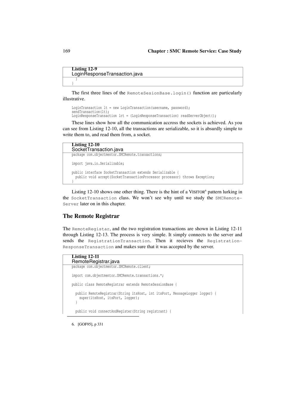 169 Chapter : SMC Remote Service: Case Study Th...