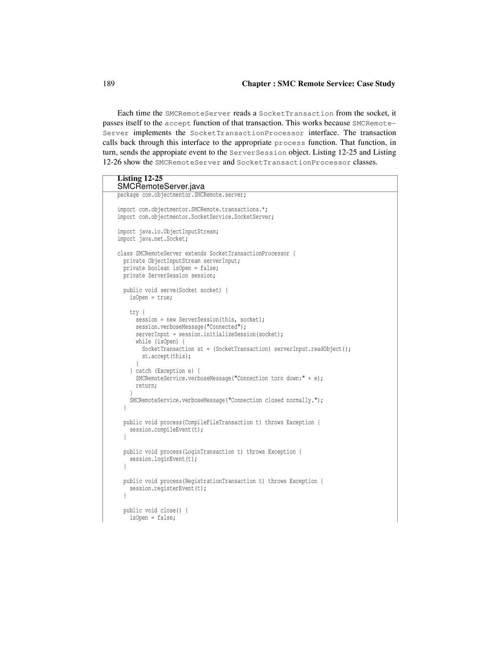 189 Chapter : SMC Remote Service: Case Study Ea...