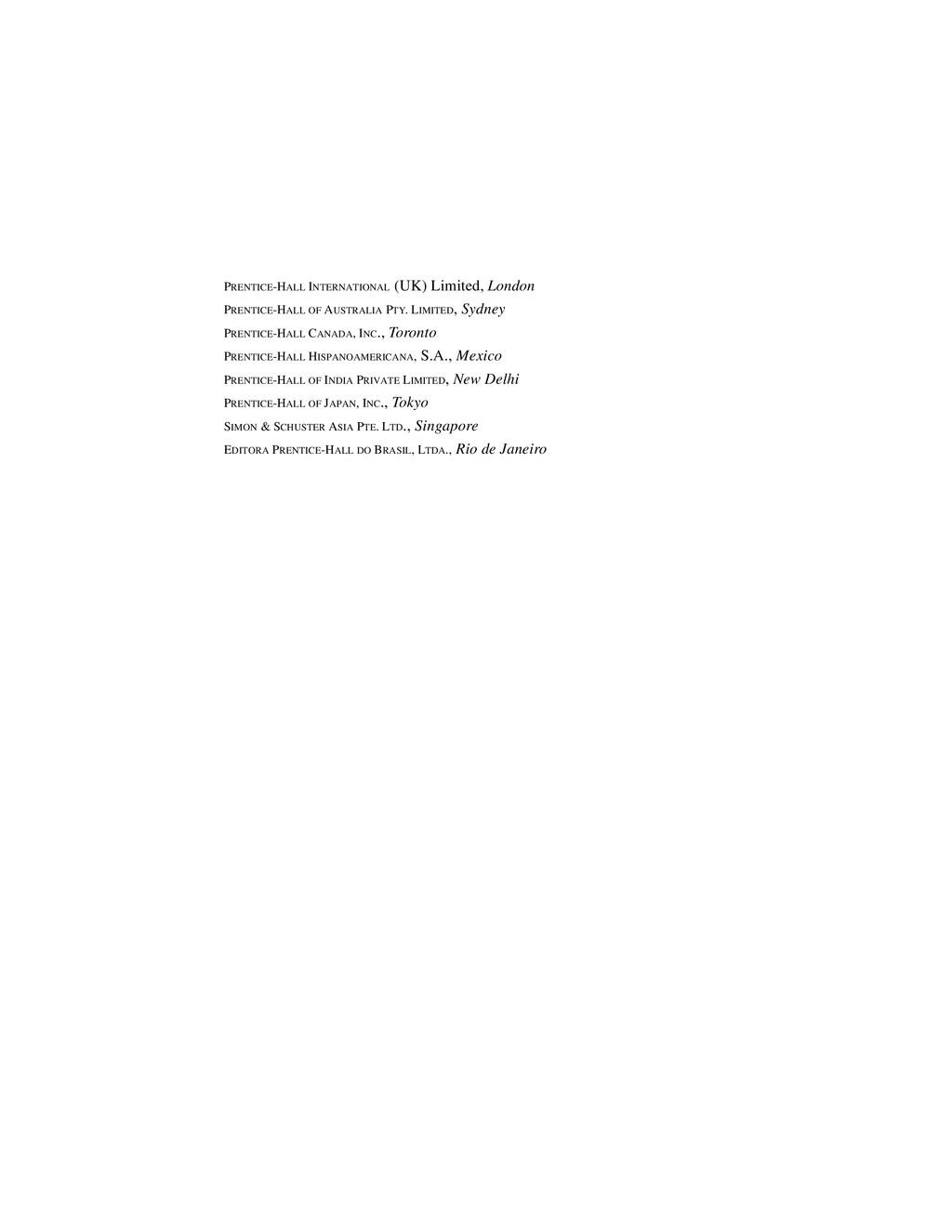 PRENTICE-HALL INTERNATIONAL (UK) Limited, Londo...