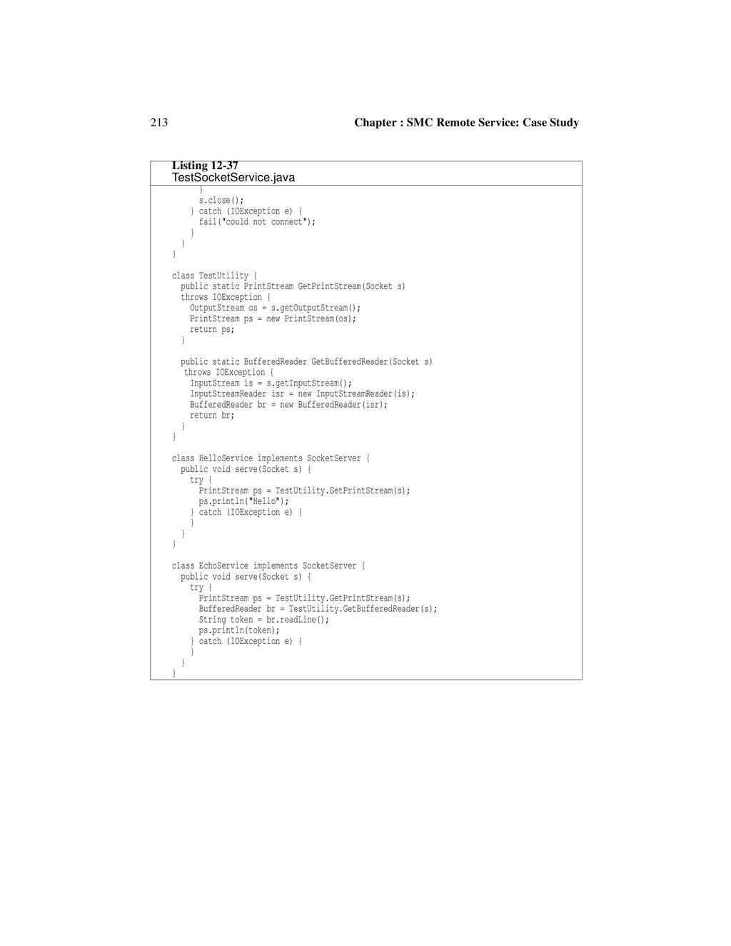 213 Chapter : SMC Remote Service: Case Study } ...