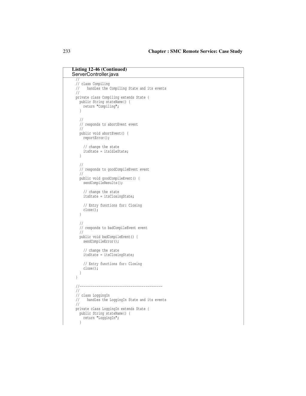 233 Chapter : SMC Remote Service: Case Study //...