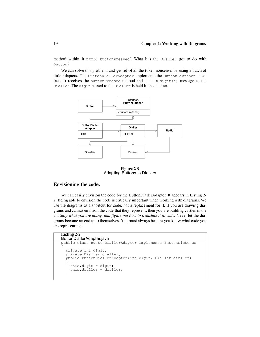19 Chapter 2: Working with Diagrams method with...