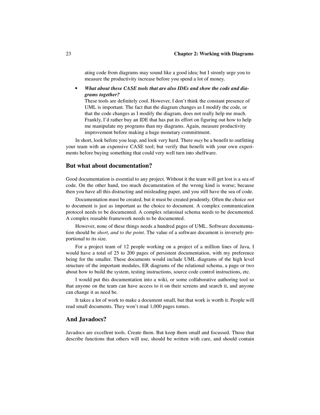 23 Chapter 2: Working with Diagrams ating code ...