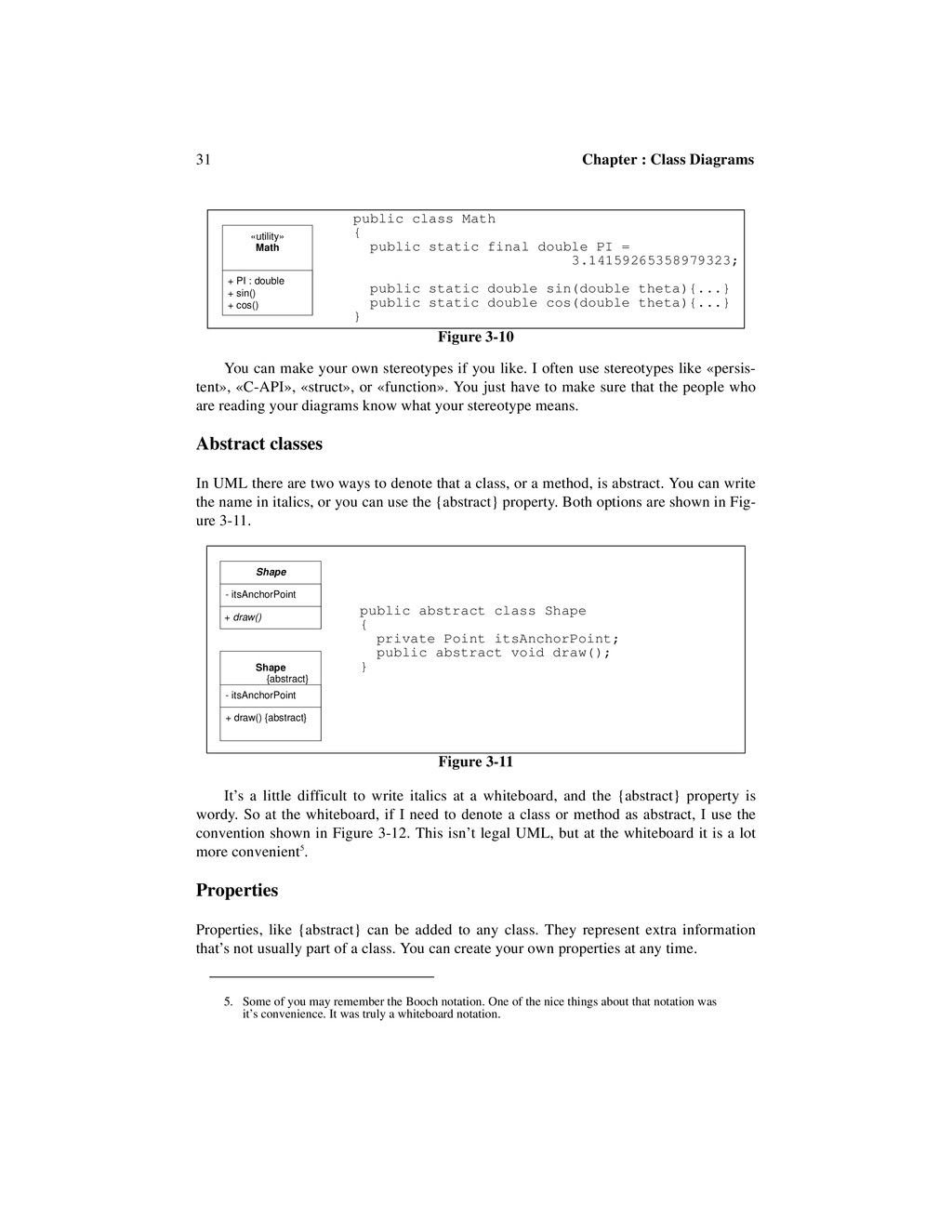 31 Chapter : Class Diagrams You can make your o...