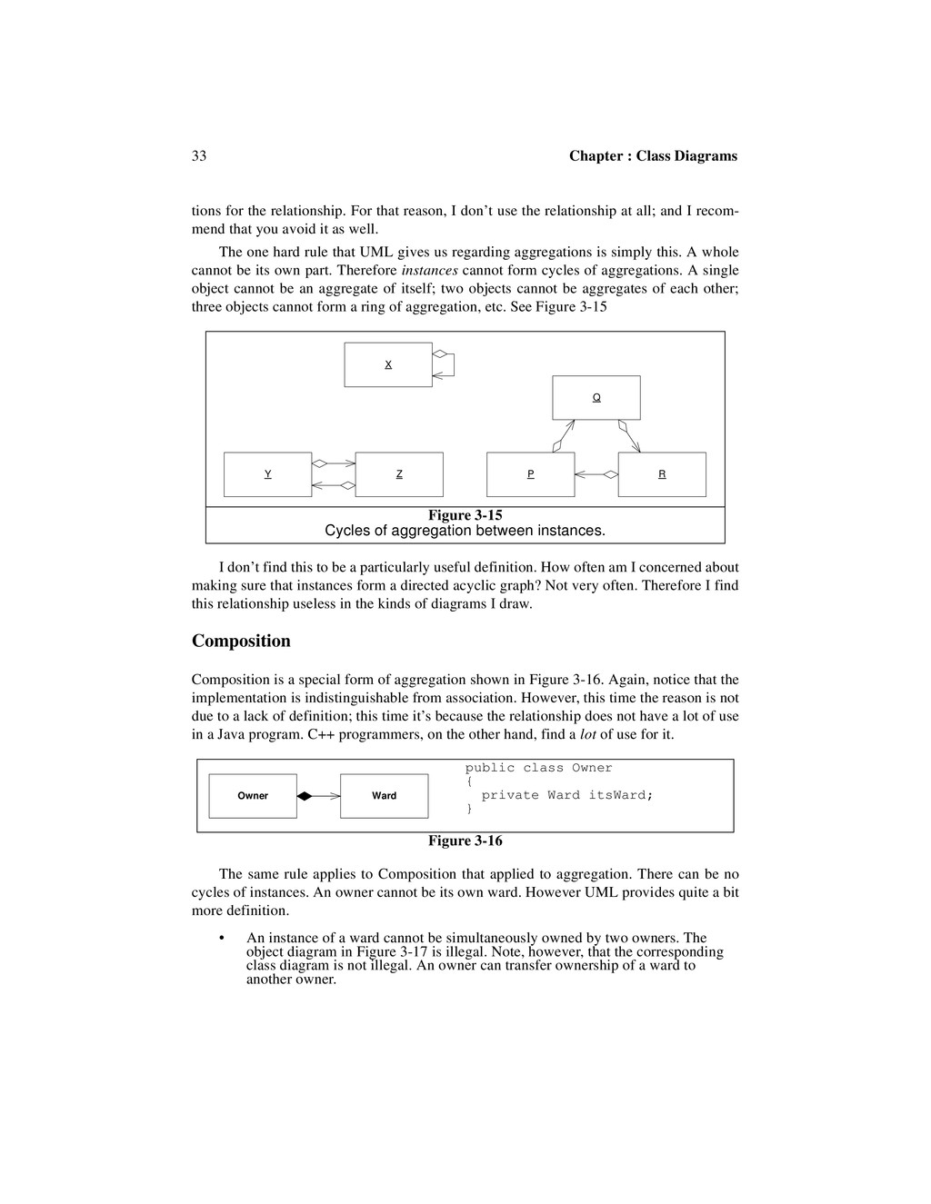 33 Chapter : Class Diagrams tions for the relat...