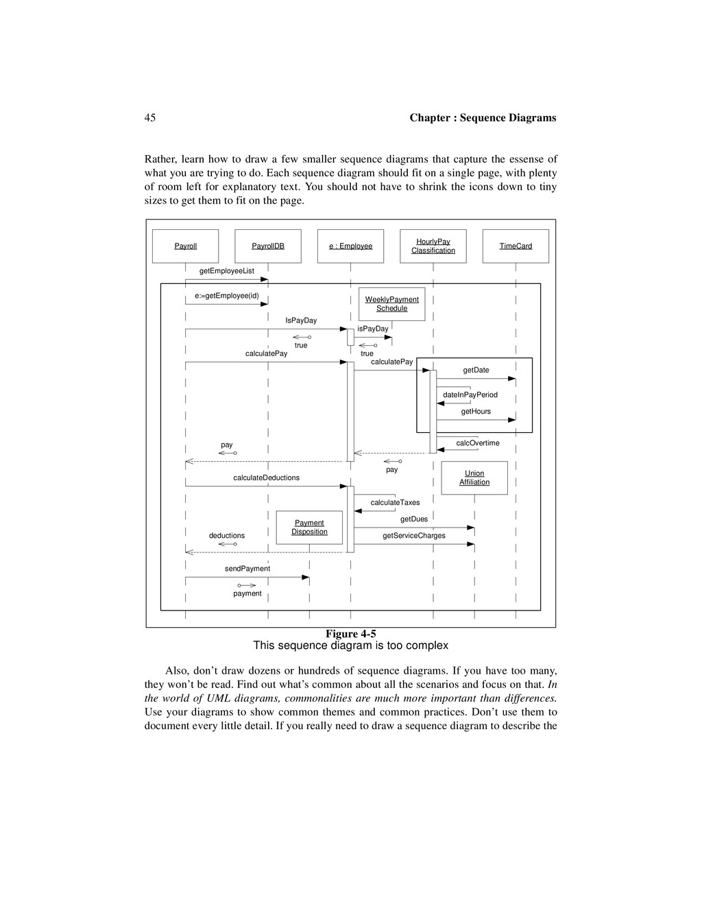 45 Chapter : Sequence Diagrams Rather, learn ho...