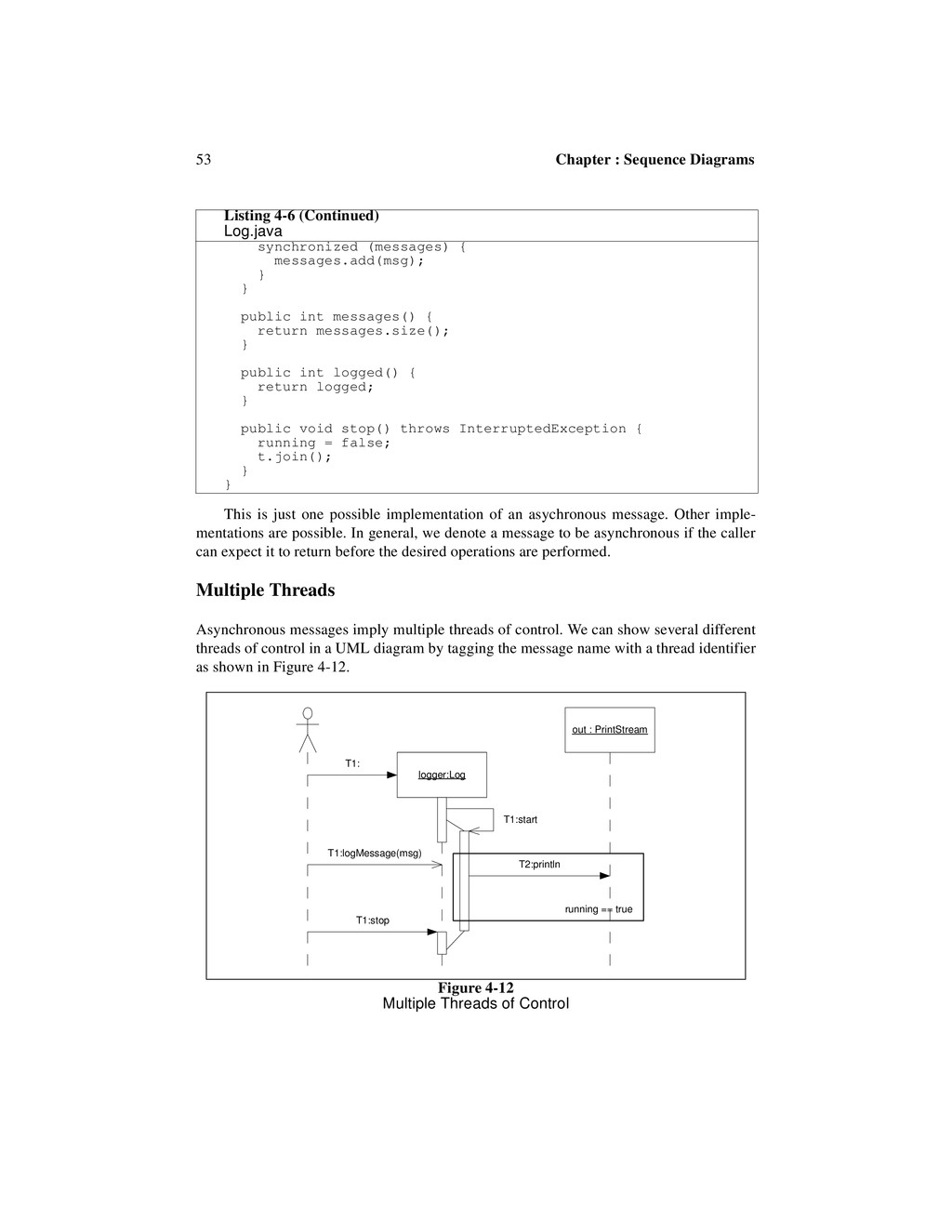 53 Chapter : Sequence Diagrams This is just one...