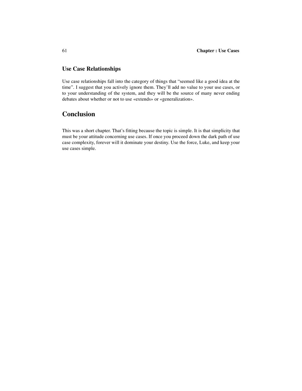 61 Chapter : Use Cases Use Case Relationships U...