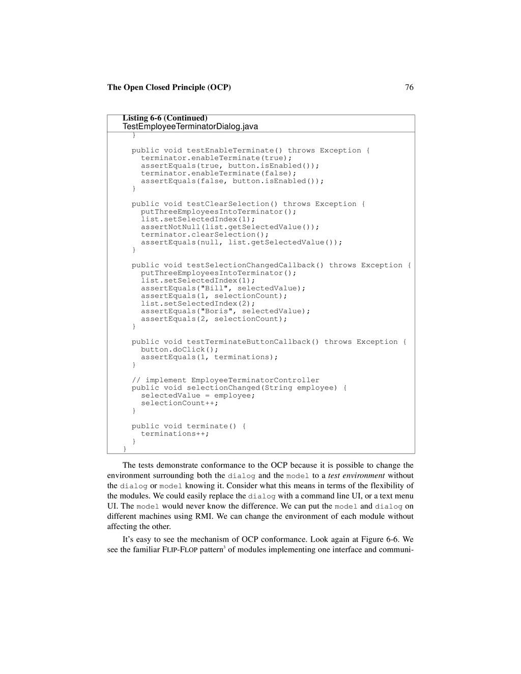 76 The Open Closed Principle (OCP) The tests de...