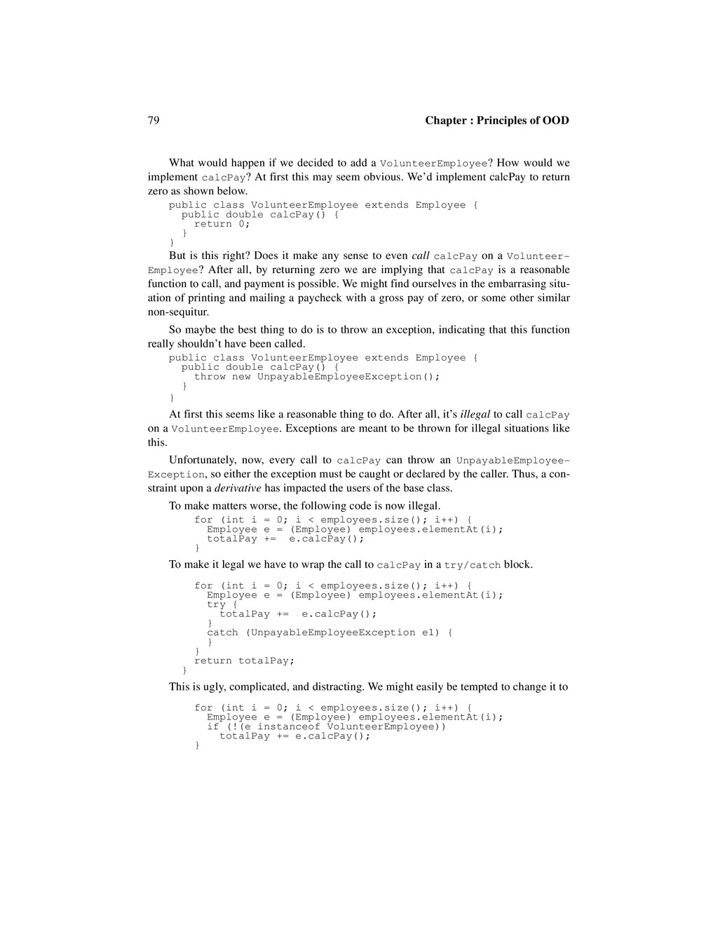 79 Chapter : Principles of OOD What would happe...
