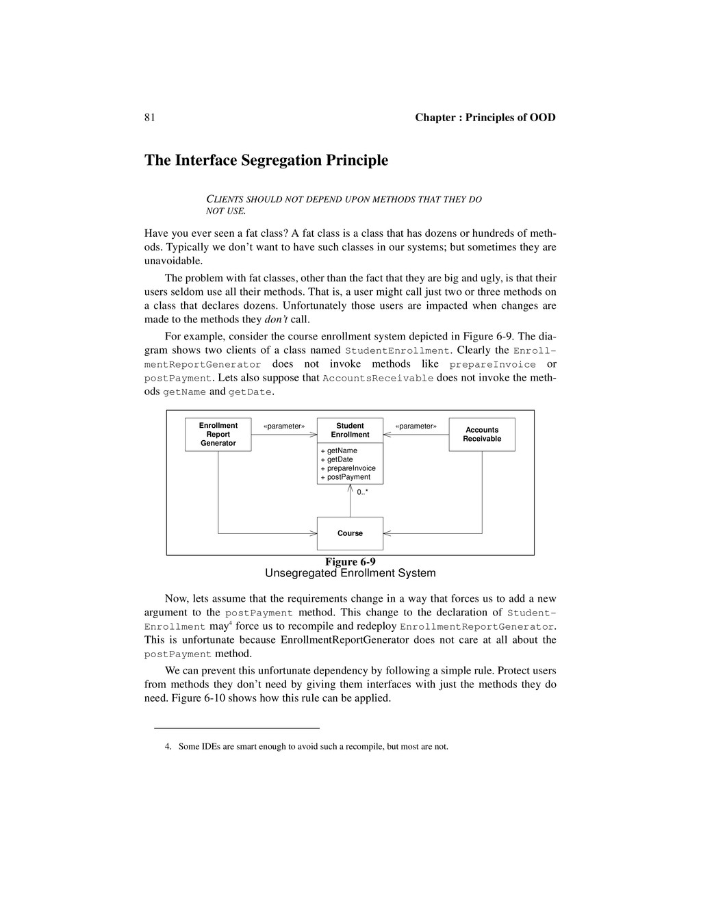 81 Chapter : Principles of OOD The Interface Se...