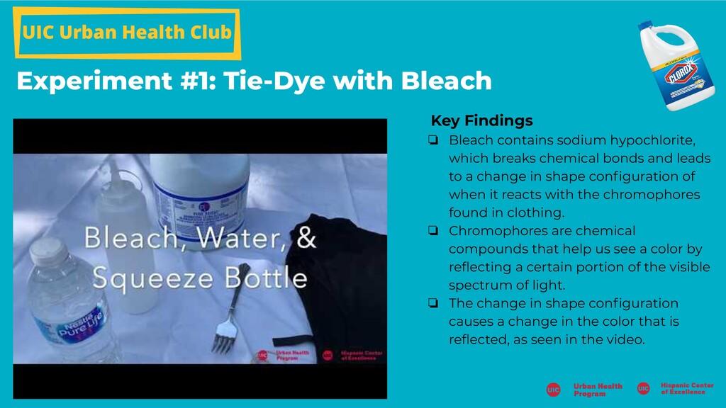 UIC Urban Health Club Experiment #1: Tie-Dye wi...