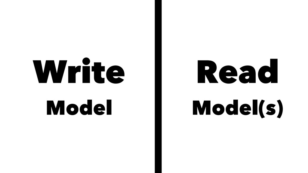 Write Model Read Model(s)