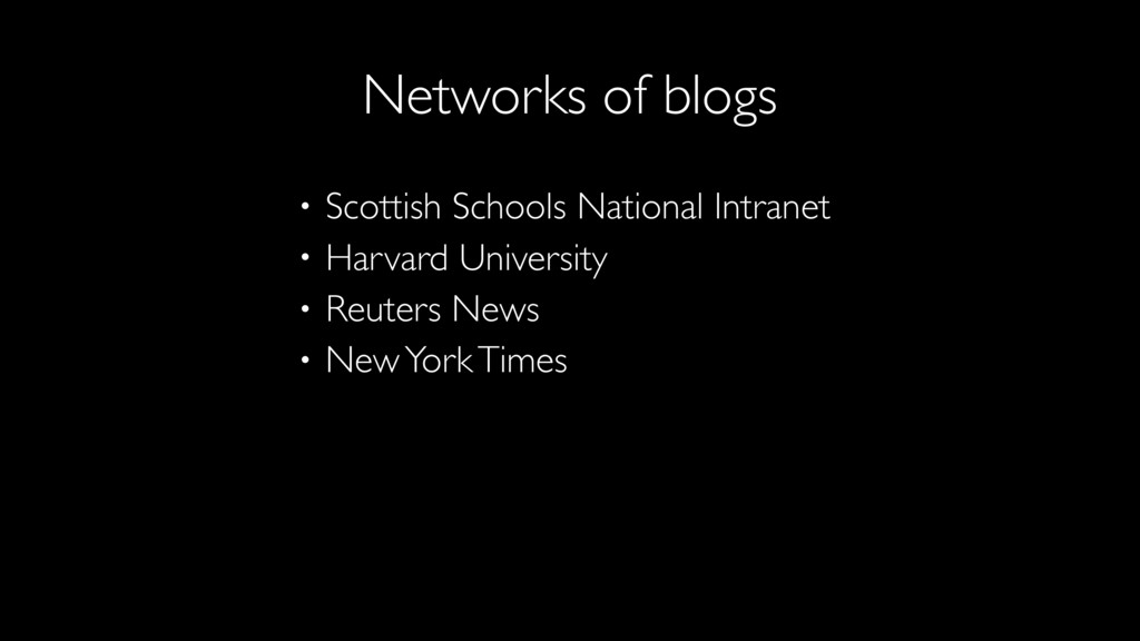 • Scottish Schools National Intranet • Harvard ...