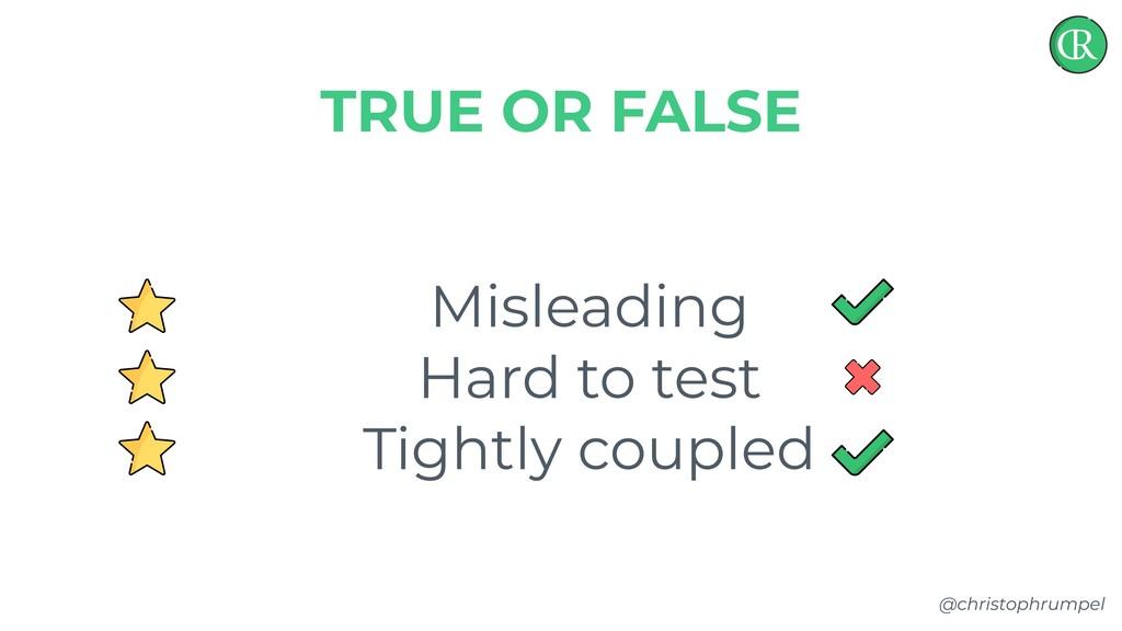 @christophrumpel Misleading Hard to test Tightl...
