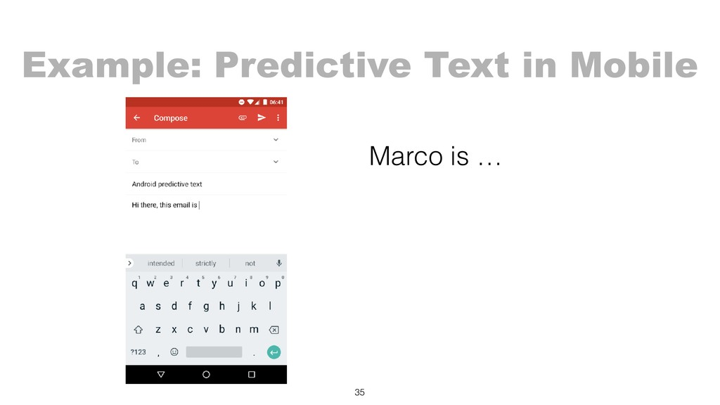 Marco is …