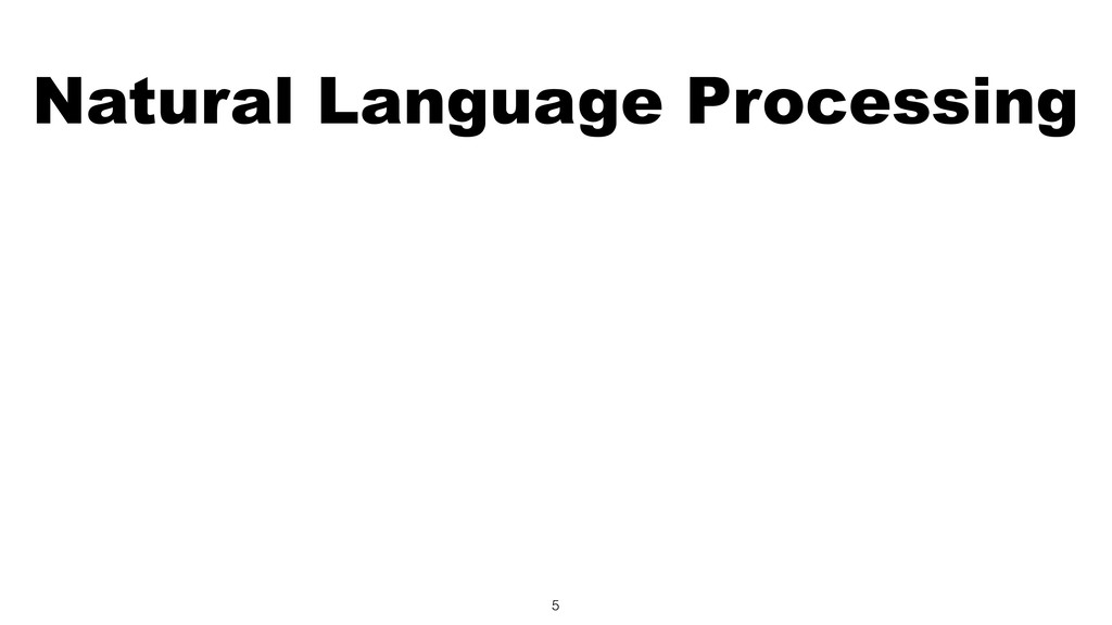Natural Language Processing 5