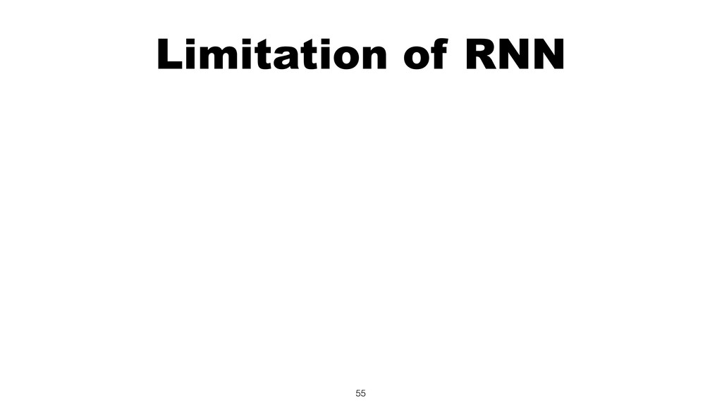 Limitation of RNN 55