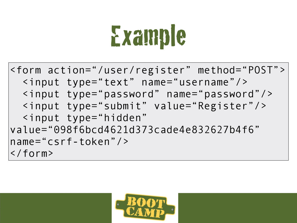 """Example <form action=""""/user/register"""" method=""""P..."""