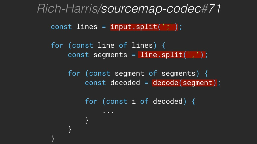 const lines = input.split(';'); for (const line...