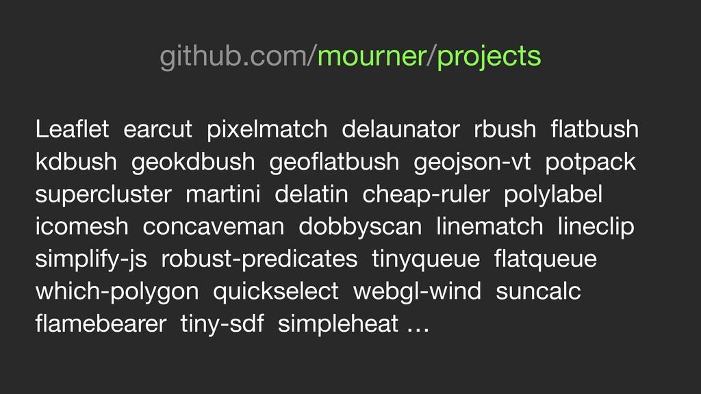 Leaflet earcut pixelmatch delaunator rbush flatbu...