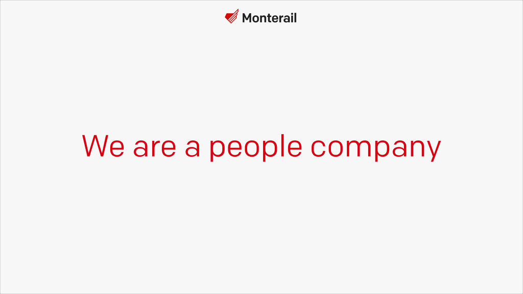 We are a people company