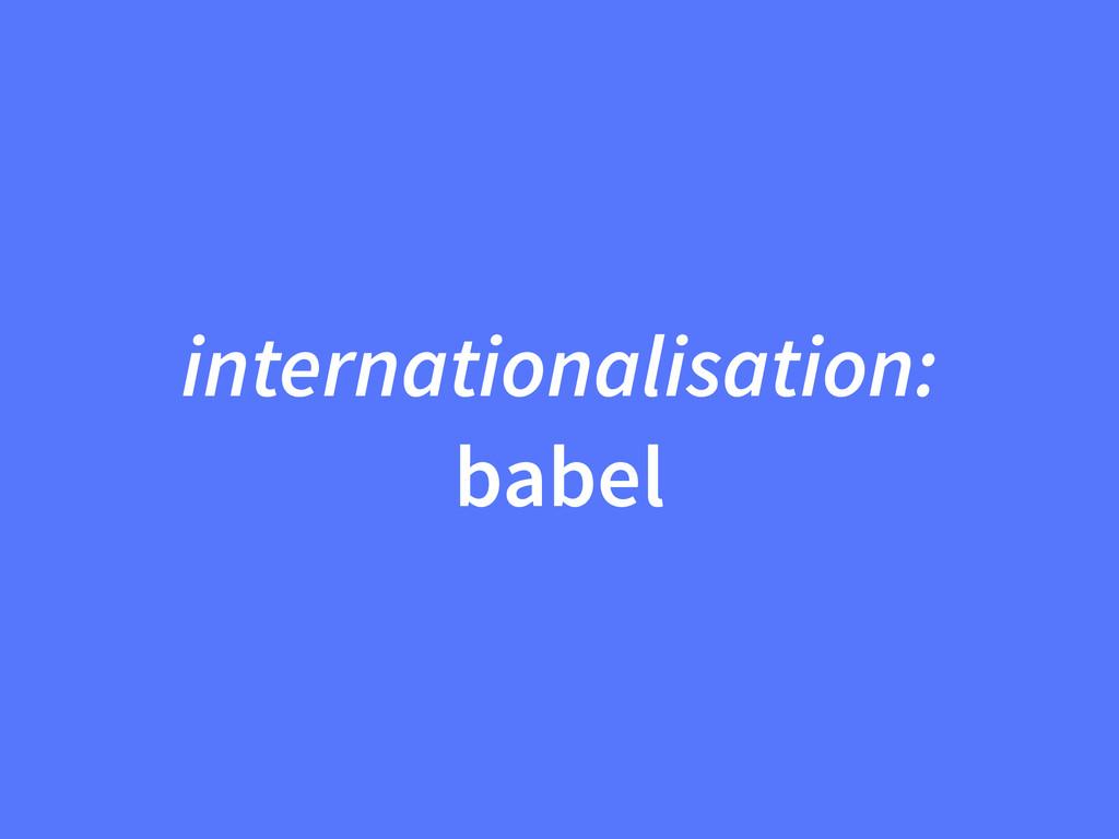 internationalisation: babel