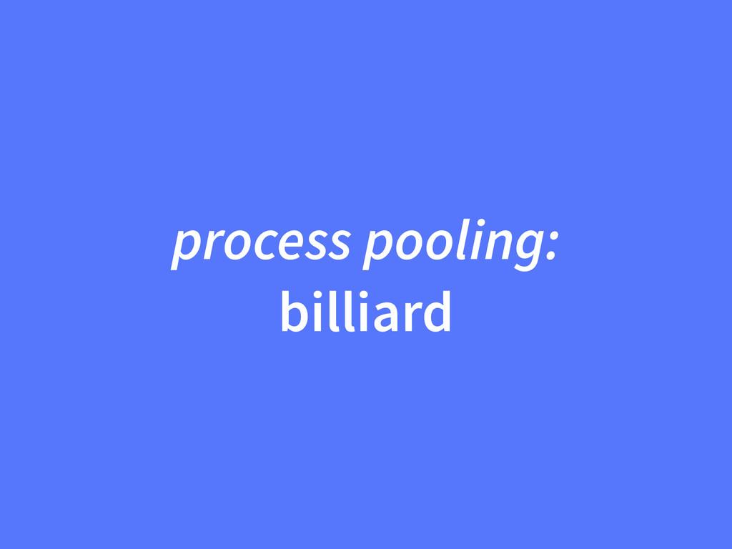 process pooling: billiard