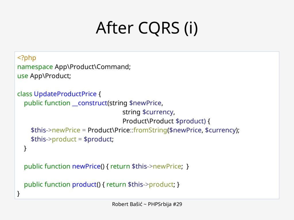 Robert Bašić ~ PHPSrbija #29 After CQRS (i) <?p...