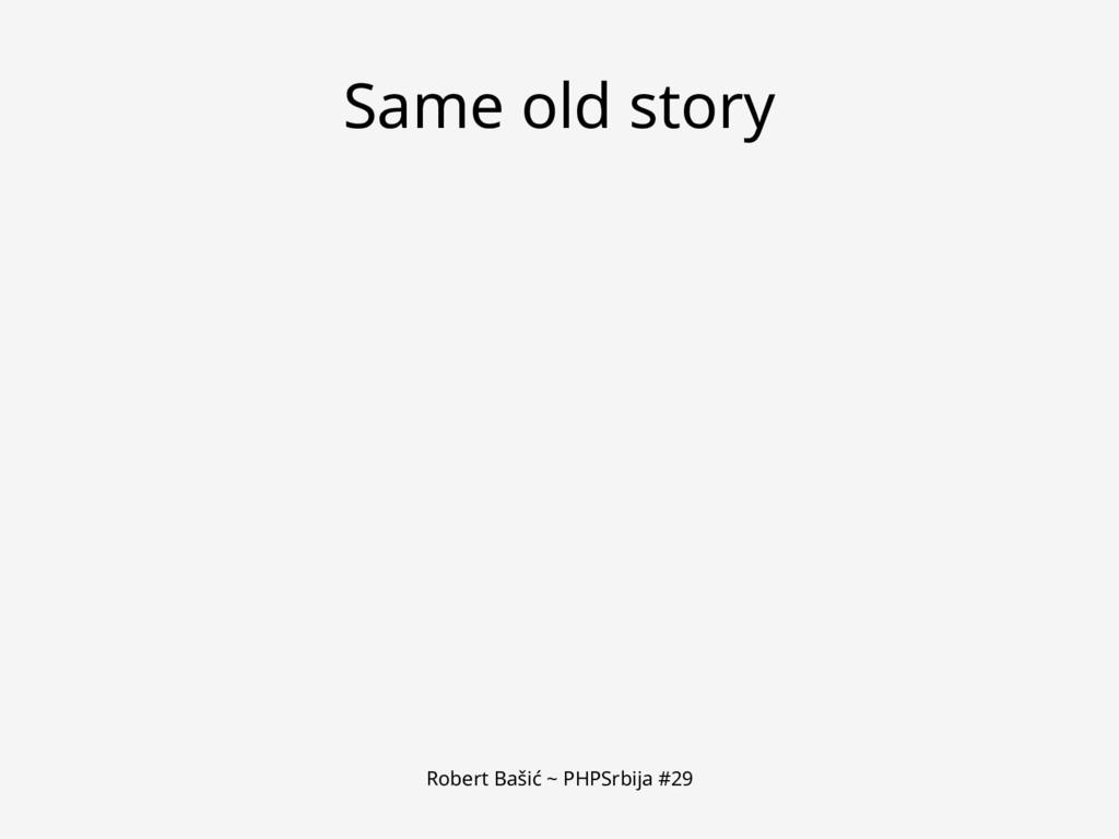 Robert Bašić ~ PHPSrbija #29 Same old story