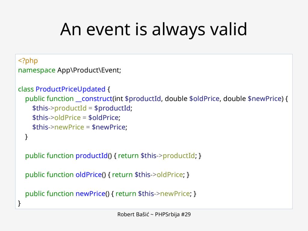 Robert Bašić ~ PHPSrbija #29 An event is always...
