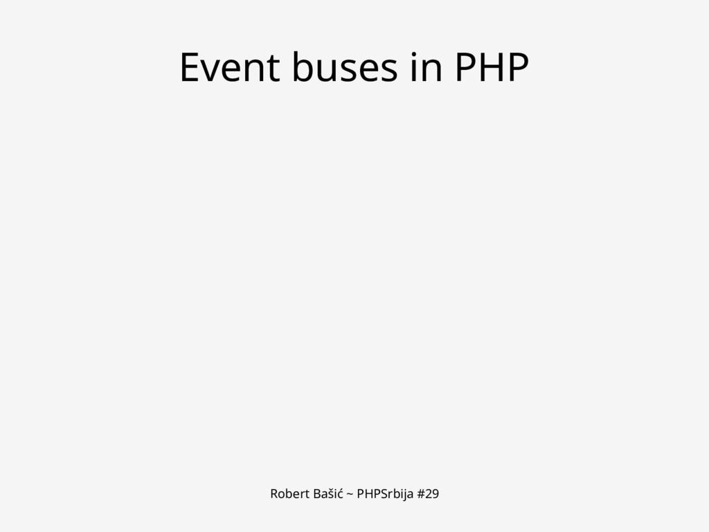 Robert Bašić ~ PHPSrbija #29 Event buses in PHP