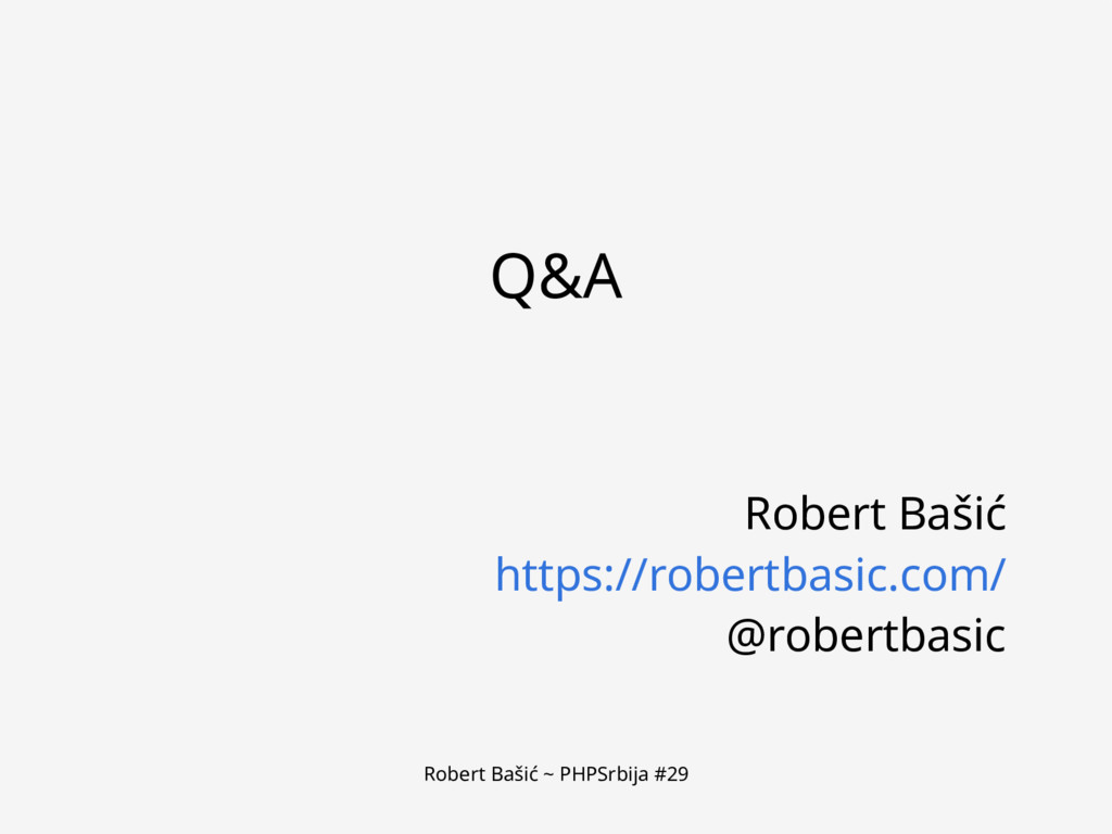 Robert Bašić ~ PHPSrbija #29 Q&A Robert Bašić h...