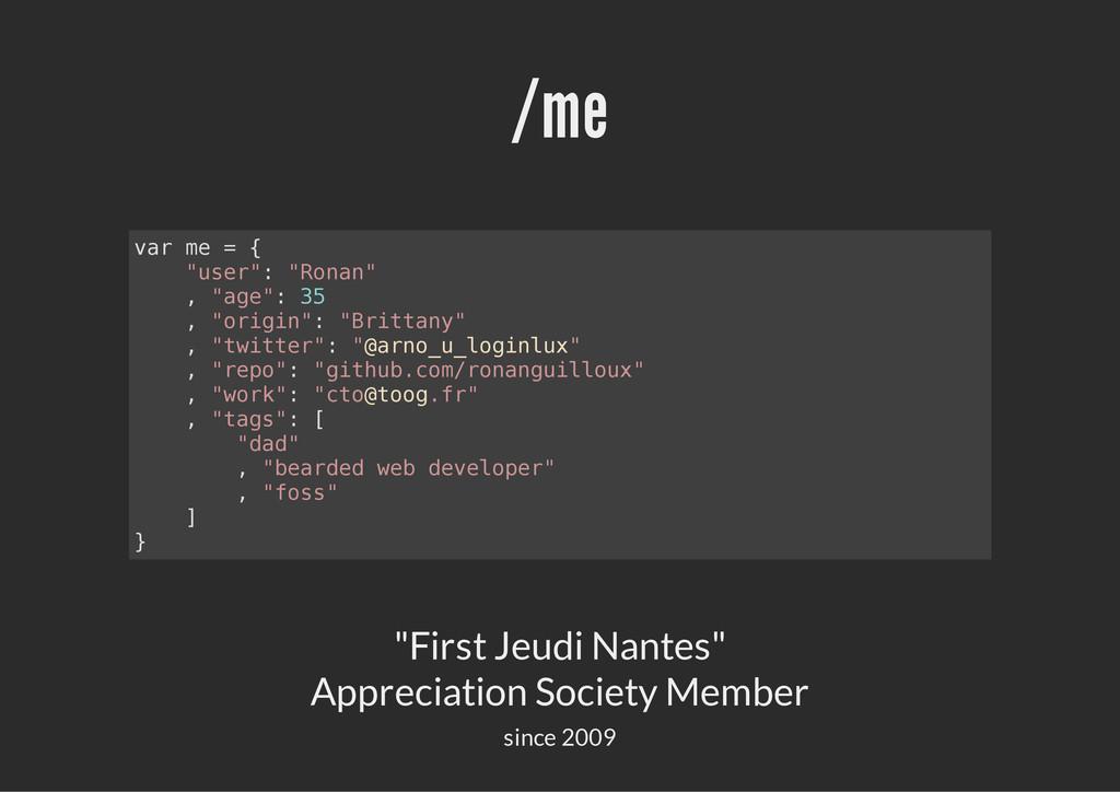 "/me ""First Jeudi Nantes"" Appreciation Society M..."