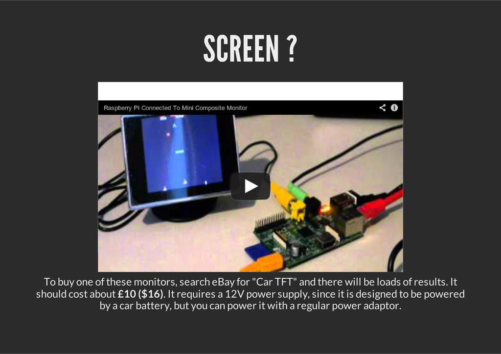 SCREEN ? To buy one of these monitors, search e...