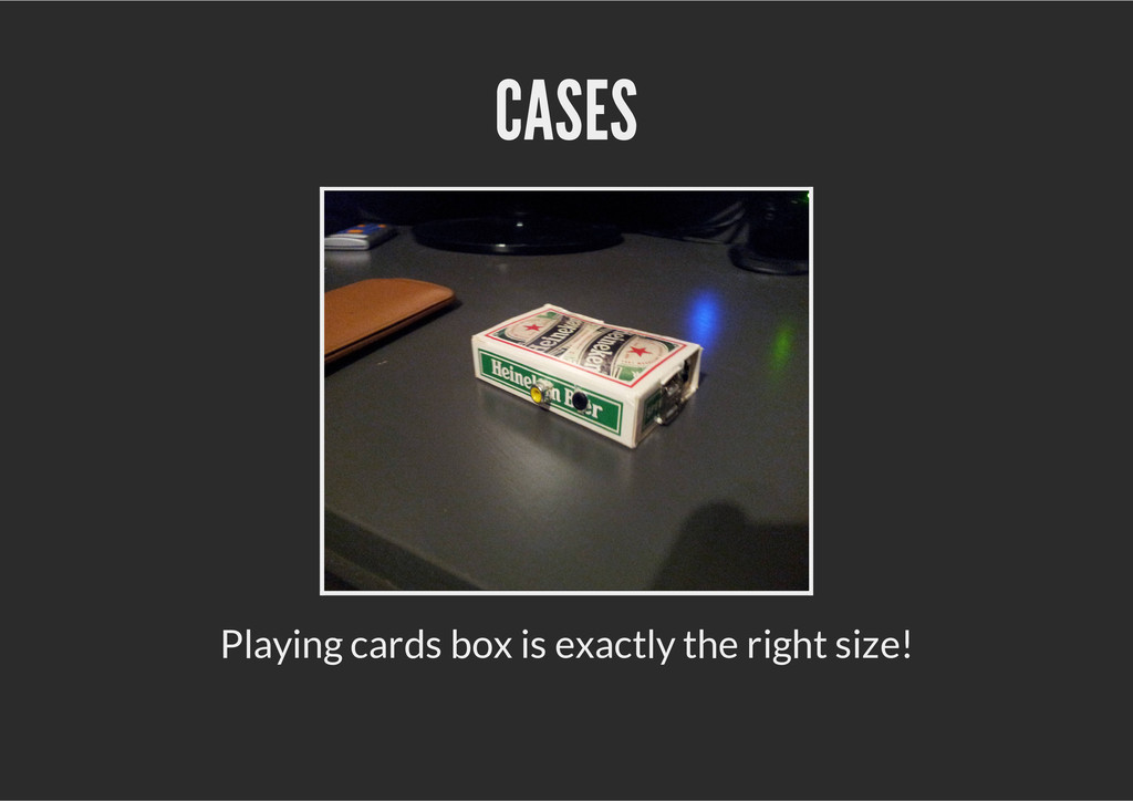 CASES Playing cards box is exactly the right si...