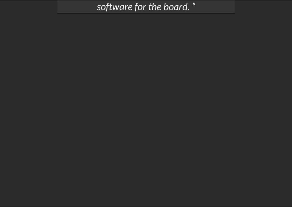 """software for the board. """""""