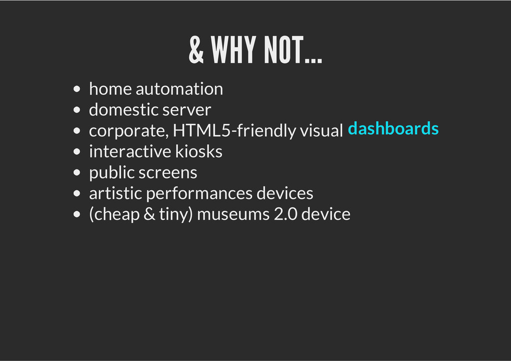 & WHY NOT... home automation domestic server co...